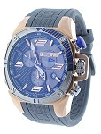 Technosport TS-100-6F1 Mens 42MM Gray & Blue Formula 1 Swiss Watch