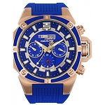 TechnoSport TS-100-S16 Unisex 40MM Royal Blue w/Rose Gold Accents 40MM Swiss Watch