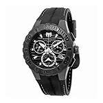 TechnoMarine TM 115081 Men's 'Cruise' Medusa Chronograph Black Dial Watch