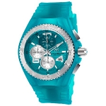 Technomarine TM 115106 Women's JellyFish Quartz Stainless Steel with Retro Turquoise Silicone Band