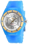 Technomarine TM 115143 Men's Jellyfish Quartz Stainless Steel and Gold with Blue Silicone Casual Watch