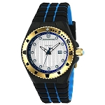 Technomarine TM 115220 Men's 'Cruise' Locker Black and Blue Silicone Casual Watch
