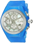 Technomarine TM 115244 Women's Diamond Jellyfish Quartz Stainless Steel with Blue Silicone Band