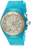 Technomarine TM 115265 Women's JellyFish Quartz Gold and Stainless Steel Blue Casual Watch