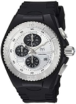 Technomarine TM 115269 Men's 'Cruise' Jellyfish  Quartz Stainless Steel With Retro Black Silicone Casual Strap