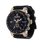 Technosport TS-1300-1 Men's Black and Rose Gold Swiss Watch