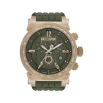 Technosport TS-1300-2 Men's 44mm Olive Green and Rose Gold Swiss Watch