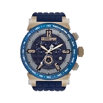 Technosport TS-1300-3 Men's 44mm Navy Blue and Rose Gold Watch