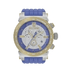 Technosport TS-1300-4 Unisex's 44mm Light Blue and Gold Swiss Watch