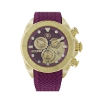 Technosport TS-640-9 Women's Gold-Tone & Cranberry Swiss Chronograph Watch