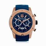 Technosport TS-750-16 Men's 45MM Royal Blue and Rose Gold Swiss Watch