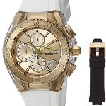 Technomarine TM-115311 Unisex Cruise Star 40mm Gold Dial Watch with Bonus Strap