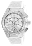 Technomarine TM-115017 Cruise California Quartz White, Antique Silver