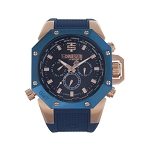 Technosport TS-100-3AV Men's 44mm Navy Blue Swiss Watch
