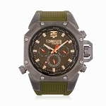 Technosport TS-100-8AV Men's 44mm Green Swiss Watch