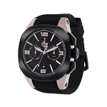 Technosport TS-100-PP6 Unisex's Black Swiss Watch With Additonal Dark Brown Strap