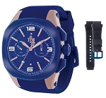 Technosport TS-100-PP.7 Uniex's Navy Blue Swiss Watch With Additional Gray Strap
