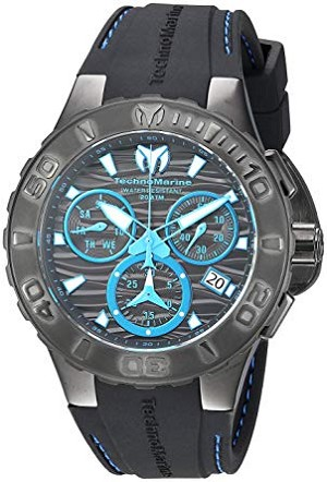Technomarine TM115080 Men's 'Cruise' Medusa Quartz Stainless Steel and Silicone Casual Watch