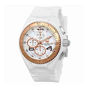 Technomarine TM115104 Women's Jellyfish Quartz Rose Gold With White Retro Strap