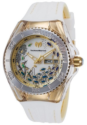 Technomarine TM-115117 Women's 40mm Cruise Dream Gold & White Silicone MOP Dial