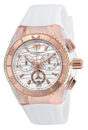 Technomarine TM-115044 NEW 2016 COLLECTION Cruise Star Rose Gold & White Swiss Watch