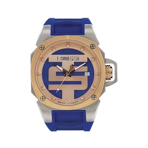 TechnoSport TS-102-4 Unisex 40MM Royal Blue and Rose Gold Swiss Watch